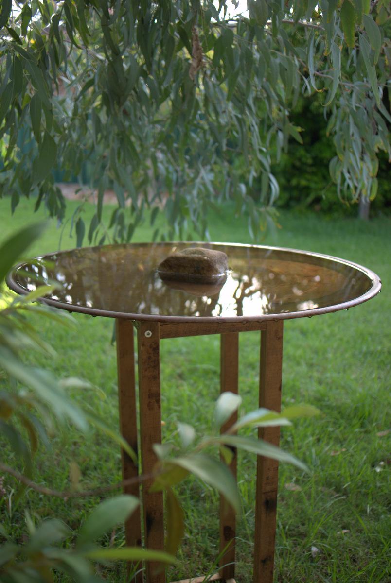 Spun Copper Bird Bath From Mallee Design