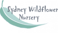 Sydney Wildflower Nursery logo with gum leaf