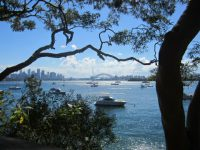 Sydney harbour From Bradleys Head National Park