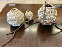baskets woven with kangaroo paw leaves